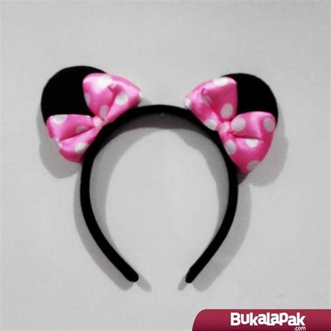 Kachi Pita Minnie Mouse jual bando minnie mouse pita pink muda dobel anak dewasa