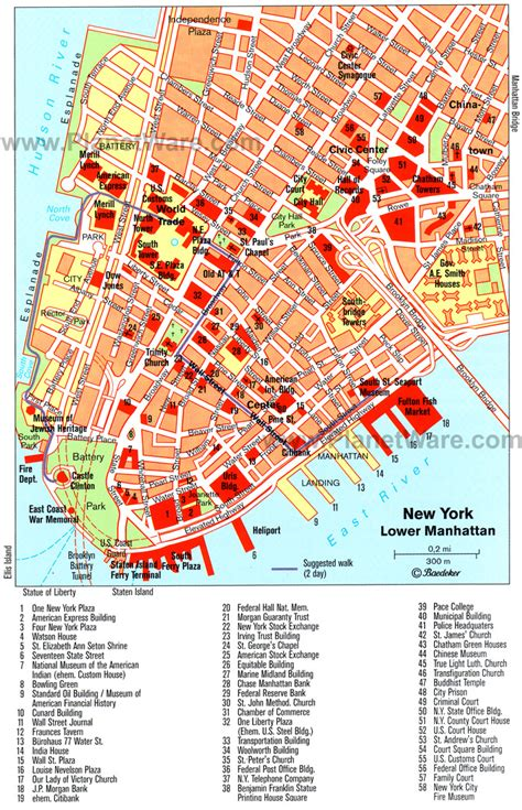 manhattan map of attractions tourist attractions in new york map
