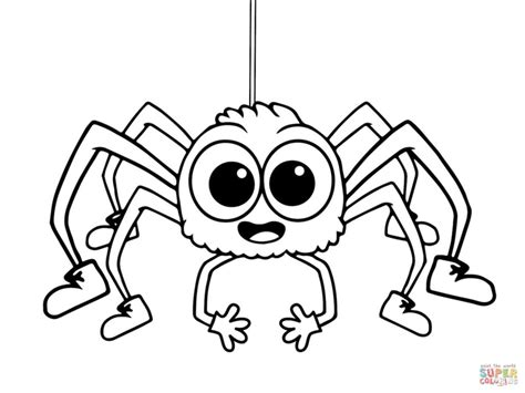 small spider coloring page itsy bitsy spider coloring pages free coloring pages small