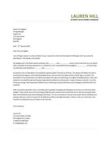 Business Management Cover Letter sle letter business growth sle business letter