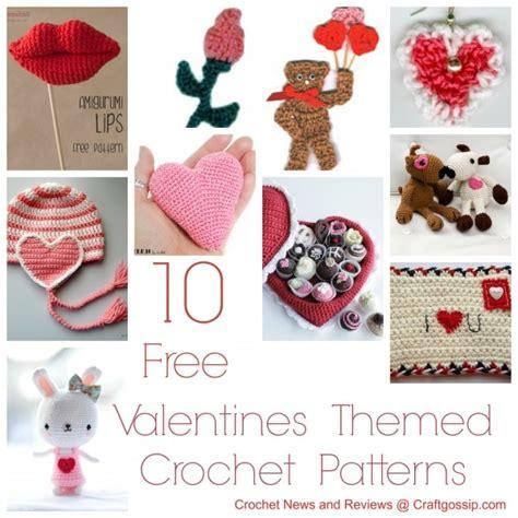 free patterns 10 valentines day patterns crochet