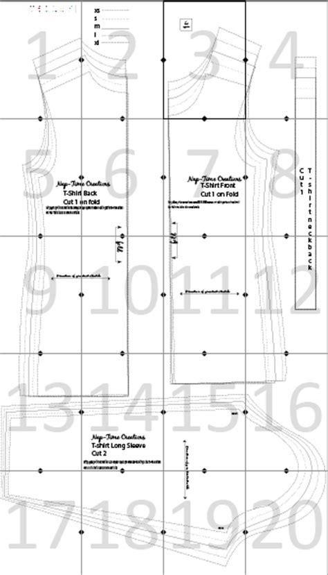 t shirt pattern making pdf womens long sleeve t shirt pattern free nap time creations