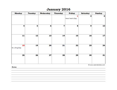 2016 excel calendar template fillable calendar template 2016