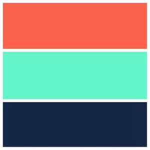 what colors go with coral teal navy and coral color scheme for the home