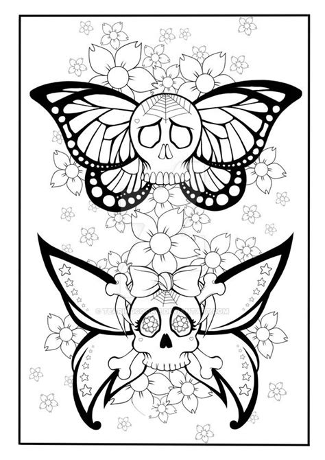 Princess Skull Tattoos Free Coloring Sheets 315 Best Skull Day Of The Dead Coloring Images On