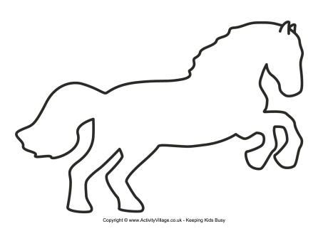 best photos of horse outline template horse template