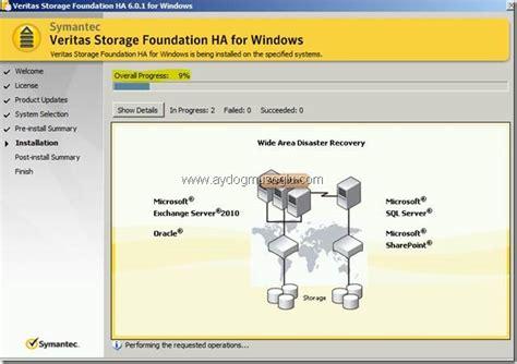 veritas cluster server ve storage foundation ile