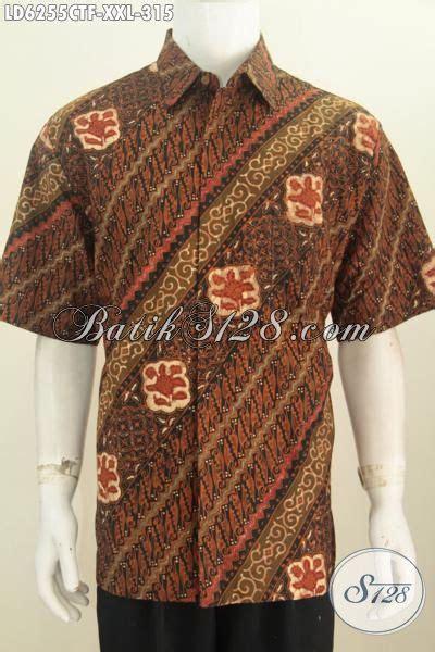 Hem Batik Pria Katun Premium Ukuran Jumbo Hrb 055 jual kemeja batik klasik baju batik parang cap tulis