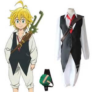 Nuevo anime seven deadly sins meliodas cosplay drag 243 n pecado de ira