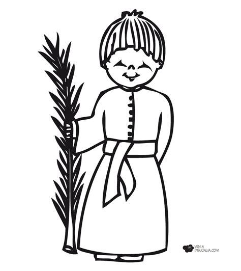 dibujos para colorear dibujos de semana santa nazareno con palmera dibujalia dibujos para colorear