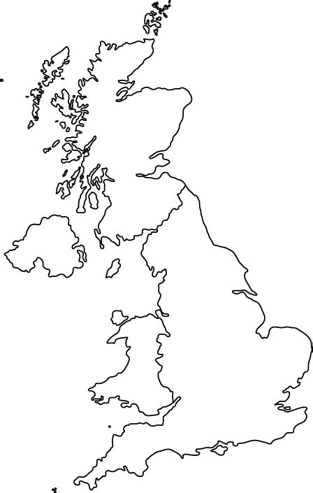 printable maps great britain united kingdom outline map