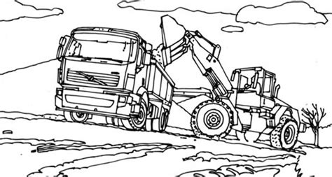 excavator truck coloring page digger coloring pages getcoloringpages com