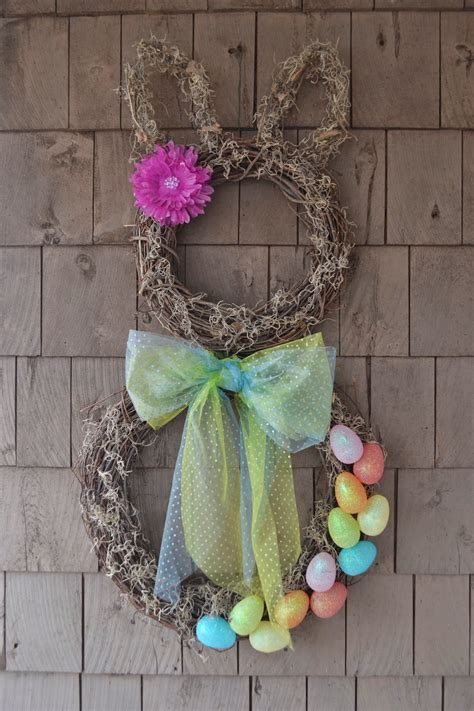 how to make a spring wreath thrifty artsy girl hop to it how to make a spring easter