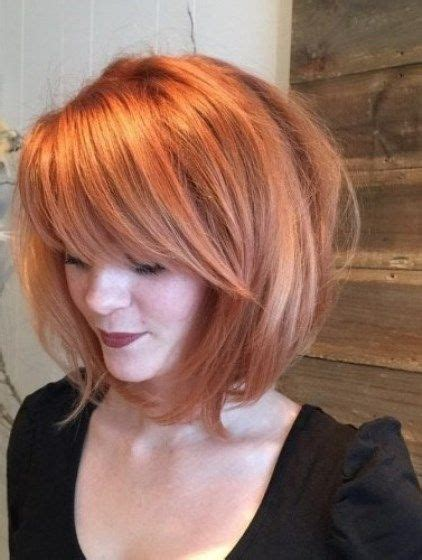 copper and brown sort hair styles light copper tousled hairstyles with bangs bob hairstles