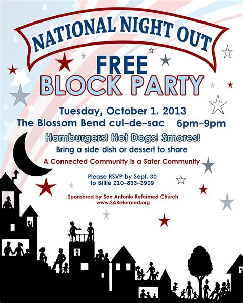 National Night Out Flyers Sles Pictures To Pin On Pinterest Pinsdaddy National Out Flyer Template Free