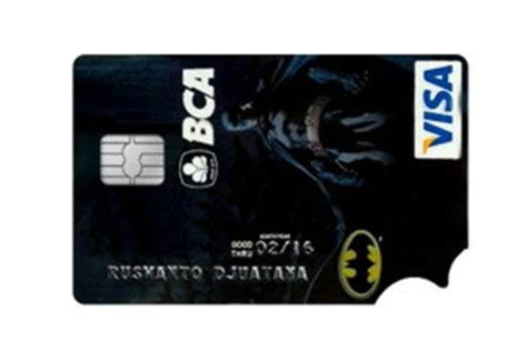 bca visa batman desain kartu kredit terunik sepanjang masa official