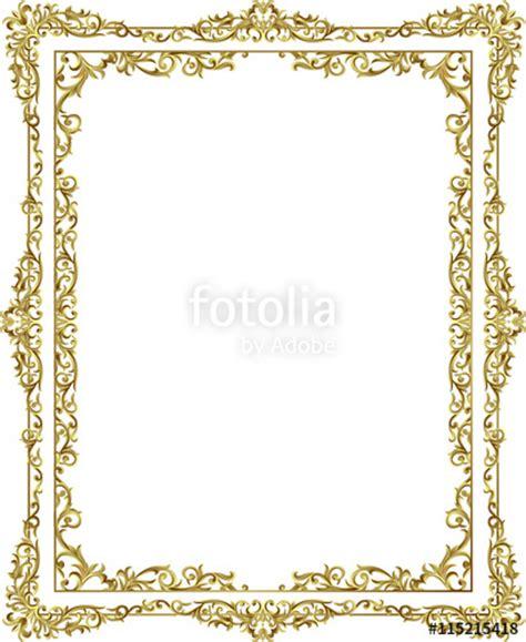 Wedding Border Line Design by Quot Vintage Frame Border Line Floral Design Gold Color