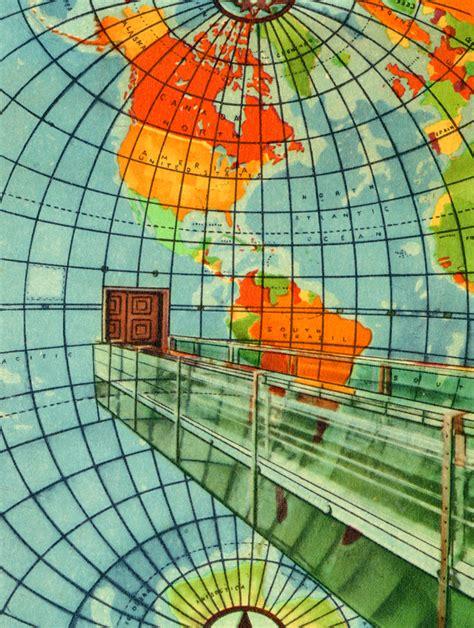 Lighted Globe Florida Memory Postcard Showing Western Hemisphere