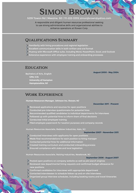 Human Resources Manager Resume by Human Resources Manager Resume That Will Get You Noticed