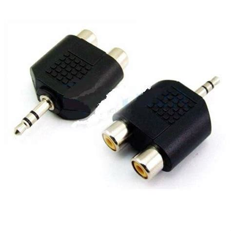 converter jack audio 3 5mm male to 2 rca jack audio adapter limerick computers