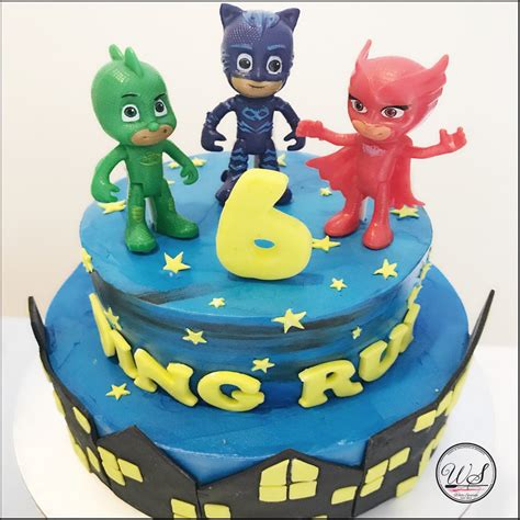 Bday Decorations At Home Pj Masks Buttercream Cake Singapore Is Here White Spatula
