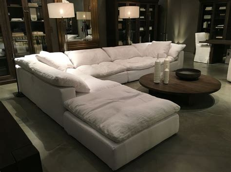 used restoration hardware sofa restoration hardware sectional quot cloud quot couch future