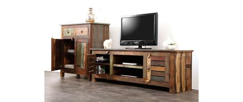 meuble tv bois recycl 233 mayotte miliboo