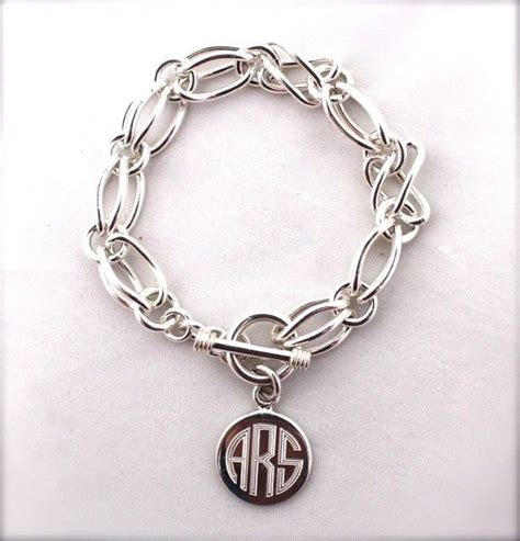 middleburg monogram charm bracelet sterling silver