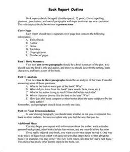 Examples Of Book Reports Report Outline Template 10 Free Sample Example Format