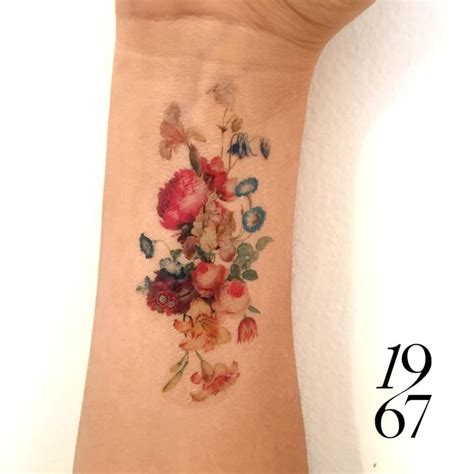 vintage flower tattoo vintage flower tattoos pictures to pin on