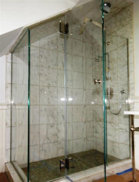 Angled Shower Door Angled Ceiling Frameless Applications Cold Shower Doors