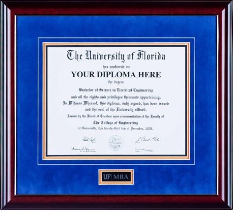 Mba Diploma Frame by Ufdf014 Deluxe Diploma Frame With Frosted Mba Etching