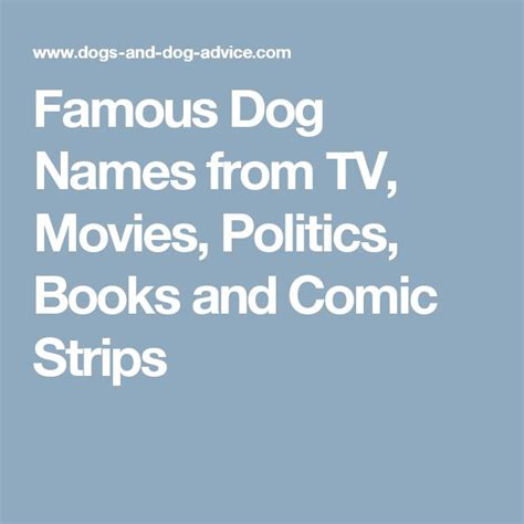 All Famous Dog Names From Tv Movies Politics Books And | 68 best berger picard puppies images on pinterest