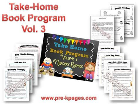takes their vire volume 3 books take home book program vol 3 pre k pages