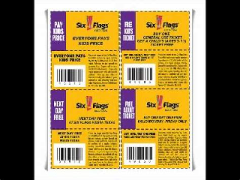 six flags maryland discount coupons