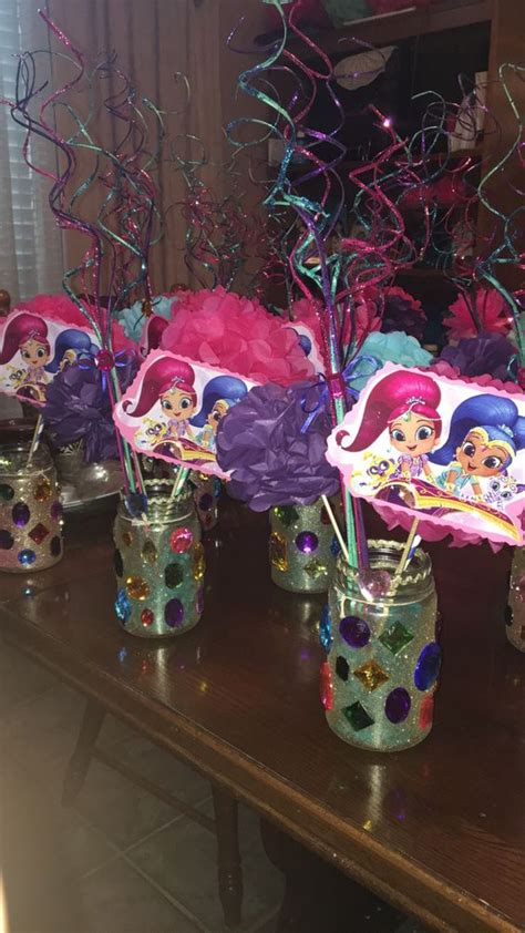 centerpiece ideas for shimmer and shine birthday centerpiece shimmer and