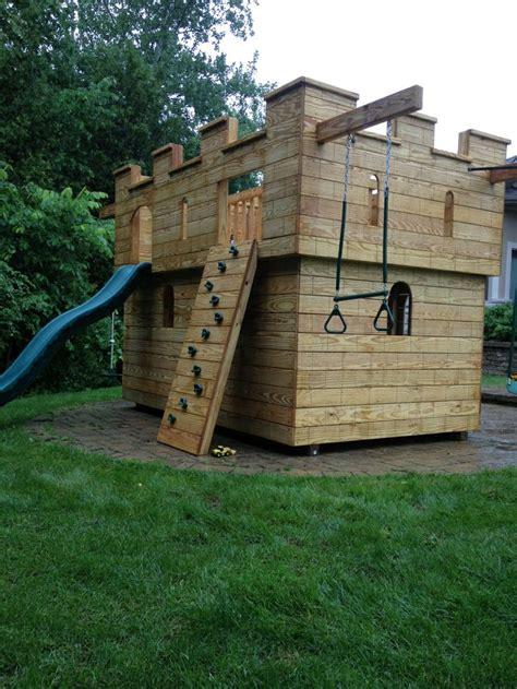 backyard castle 17 best images about kids backyard play sets on pinterest