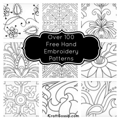 over 100 free hand embroidery patterns needle work