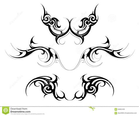 body tattoo vector tribal art stock vector image 56952432