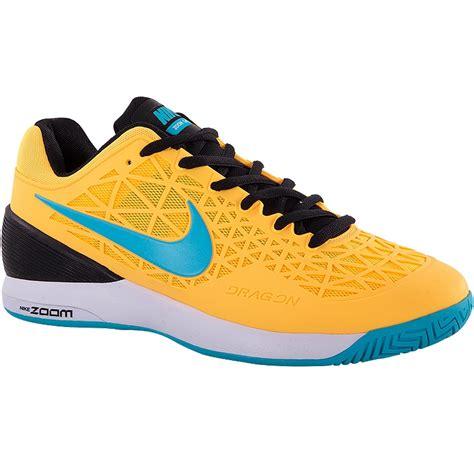 nike zoom cage 2 s tennis shoe orange blue
