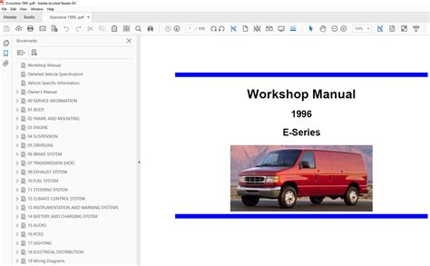 car repair manuals online pdf 1995 ford econoline e350 electronic toll collection ford econoline 1995 1997 factory repair manual