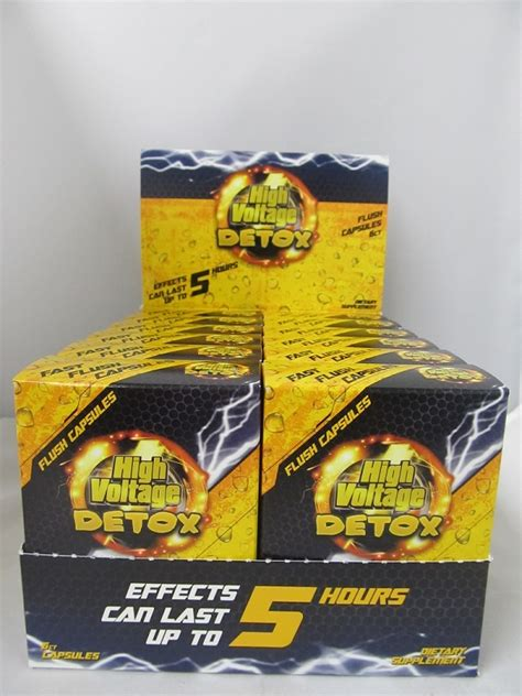 Light Smoker Detox Fast by High Voltage Detox 6 Fast Flush Capsules 12box Display