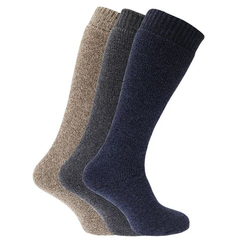 wellington boot socks mens mens thermal wool blend wellington boot socks pack of 3