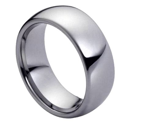 Tungsten Comfort Fit Wedding Bands by S Tungsten Carbide Wedding Ring Classic Comfort Fit