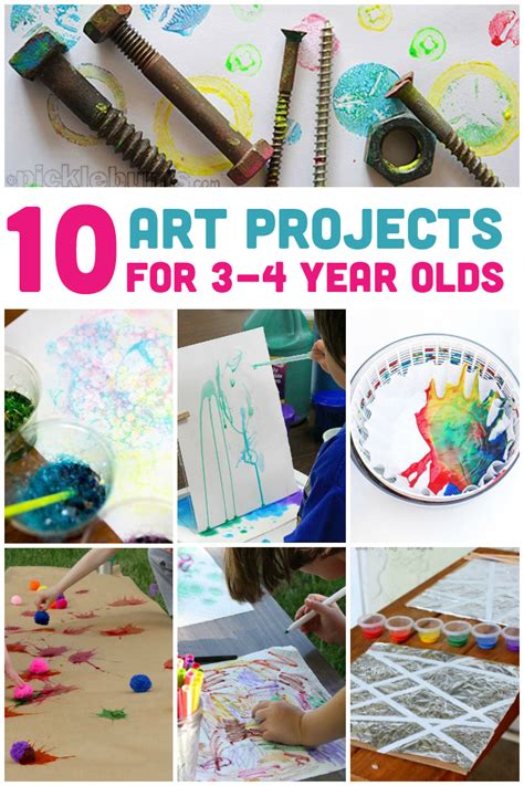 10 awesome projects for 3 4 year olds activities kid activities and craft