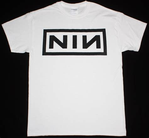 T Shirt 1d Baam Best Quality nine inch nails nin trent reznor industrial logo new white