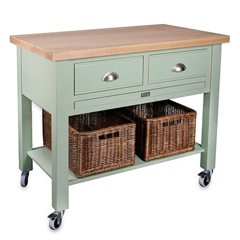 butchers block trolley with drawers baydon 2 drawer kitchen trolley from store butcher s