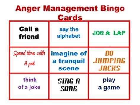 anger management bingo cards printable anger management bingo by fun teach teachers pay teachers