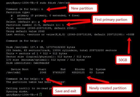 format hard disk using fdisk command managing hard disk partitions using fdisk linux make