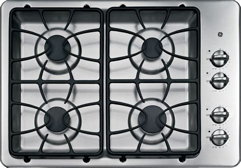 30 inch gas cooktop ge 30 inch built in gas cooktop in stainless steel the